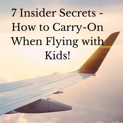 Fly With Kids & Carry on