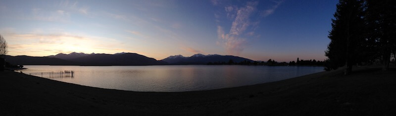 Pano of Lake Te Anau