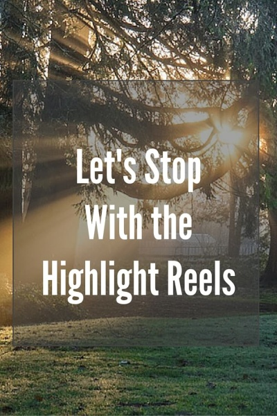 "Let's Stop With The Highlight Reels | It's time we talk about depression. What makes me crazy is the mask we sometimes hide behind on social media. We put up the highlight reel, the best of our lives, for all of our ""friends"" to see. We need to do better."