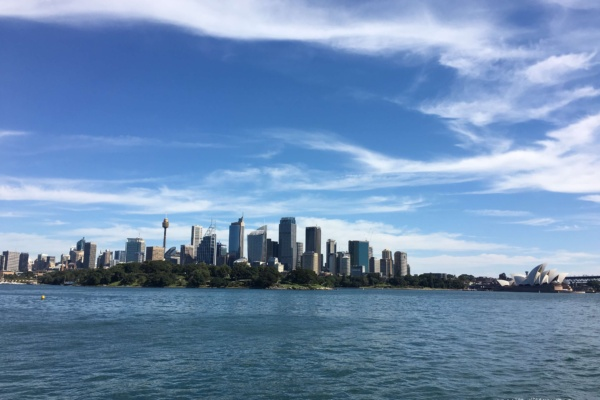 Want to know how to find views like this?  Take a Captain Cook Cruise to Shark Island. It's my new favourite lookout of Sydney.  Alternatively, Bradley's Head near Taronga Zoo provides great views too.