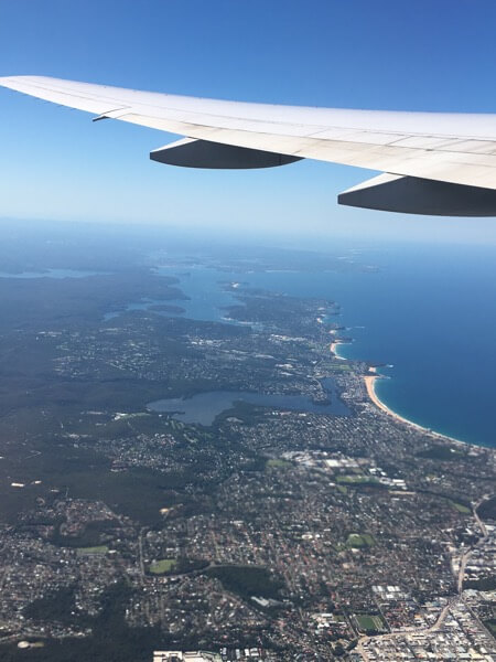 Flying in and out, Sydney is beautiful.  This was taken overlooking the northern beaches.