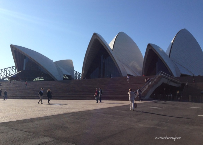 Did you know that the sails are separated?  Walk around the Opera House, touch the tiles.  I love this place.