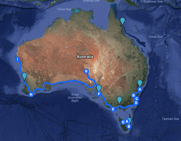 AU Google Map