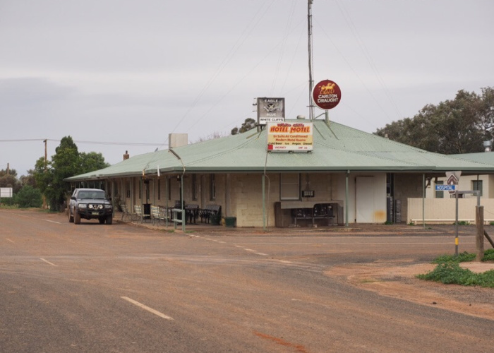 The pub in White Cliffs.  As unique as they come for an Outback pub.