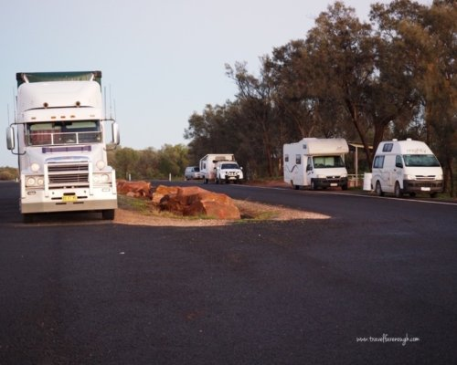 Rest area Outback NSW