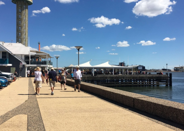 The new Newcastle foreshore.  Great spot for restaurants and a wander.