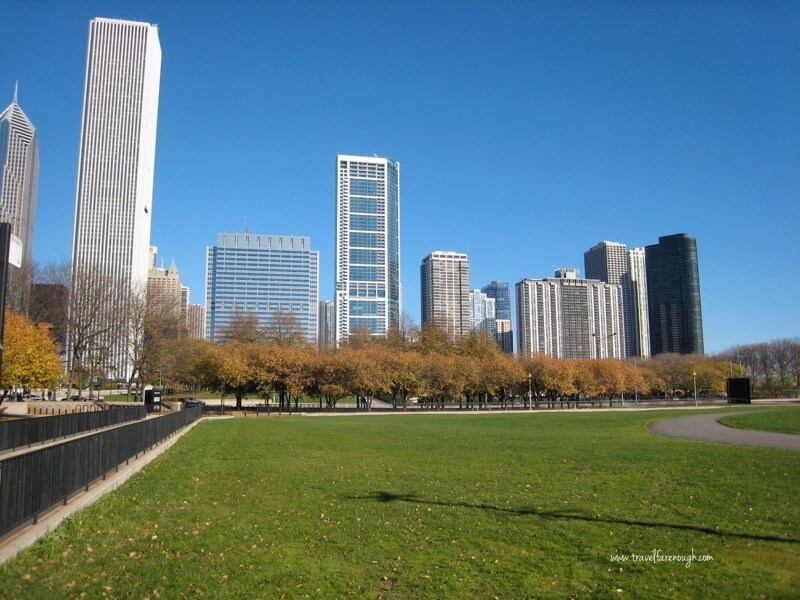 A picture perfect fall day in Millennium Park