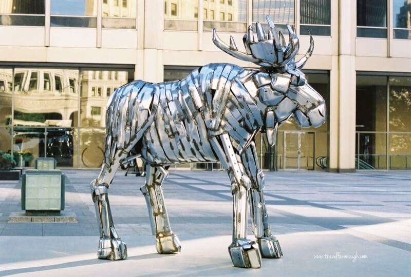Unique sculptures dot the streets throughout the Windy City
