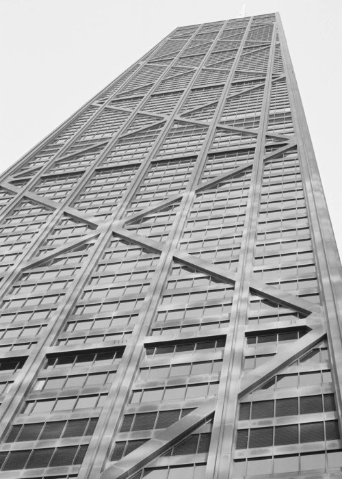 The John Hancock Centre Building soaring skyward