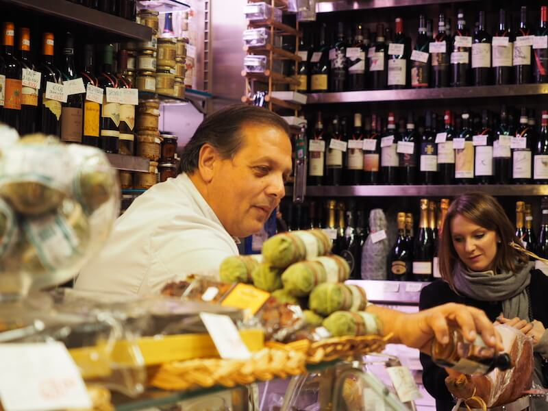 Stopping at Volpetti on Eating Italy -  Testaccio Tour