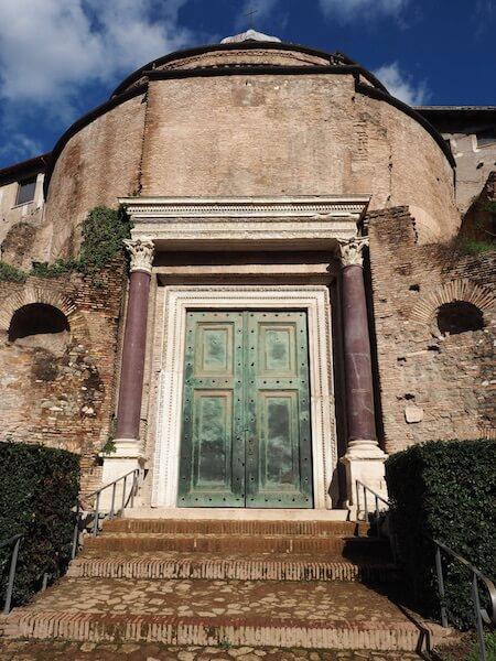 Original bronze doors still remain in the Roman Forum.