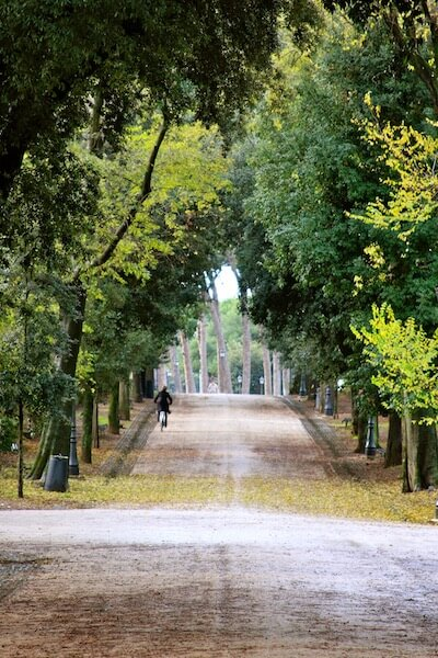 Borghese Gardens ... a gorgeous place to walk or ride a bike.