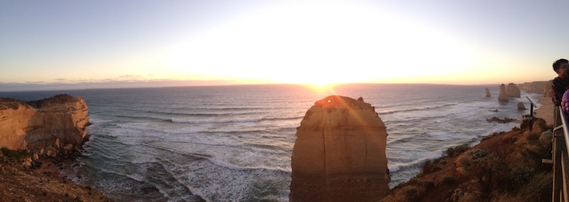 Pano Sunset at the 12 Apostles