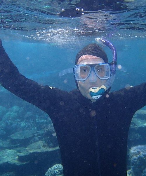 Rich snorkelling the GBR