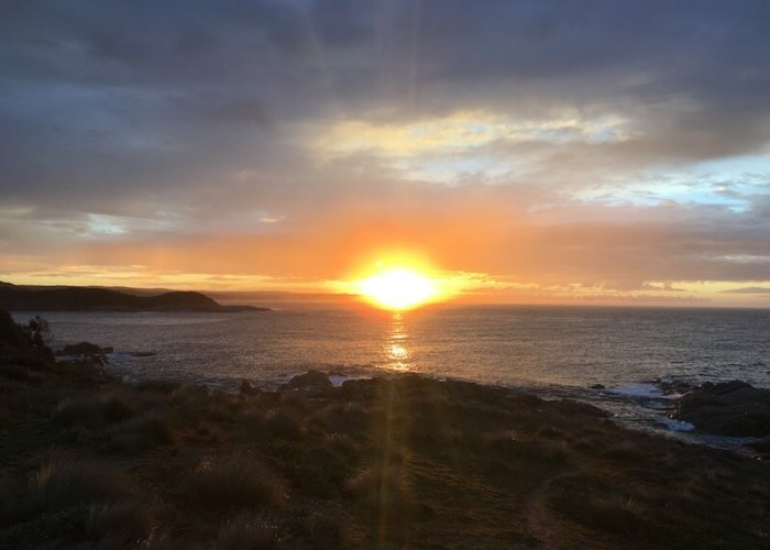 Sunrise over the headlands near Point Hicks