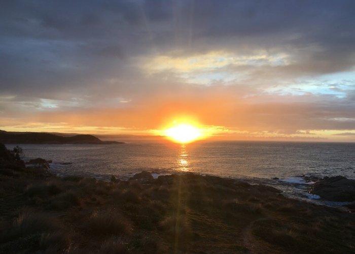Sunrise over the headlands near Point Hicks