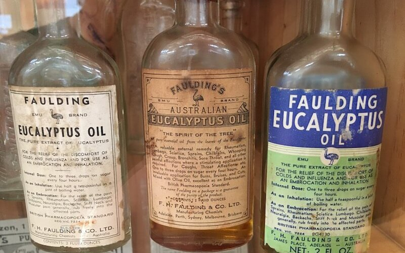 Eucalyptus Oil Bottles (Historic)
