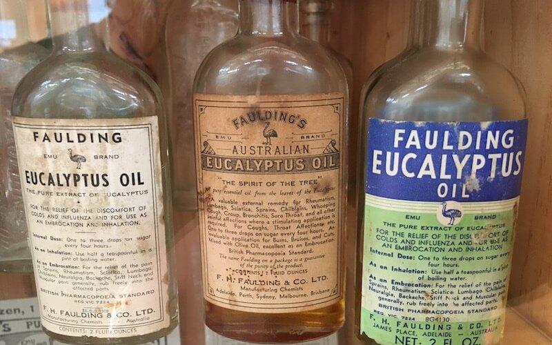 Eucalyptus Oil Bottles (Historic)