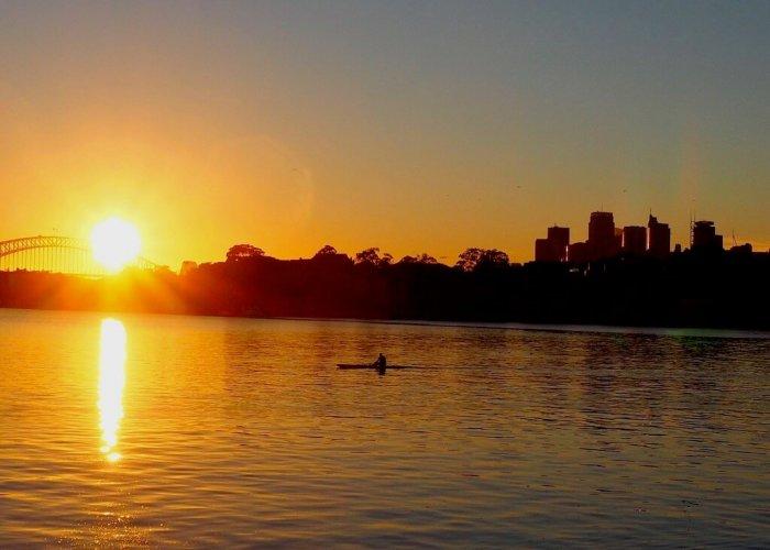 sunrise on Cockatoo Island
