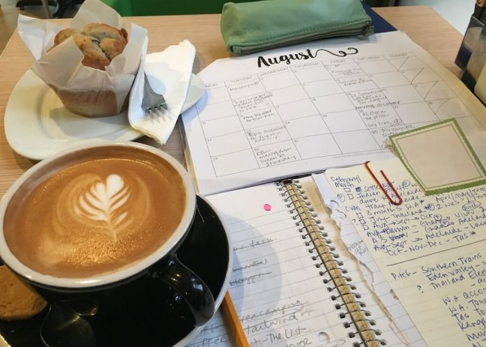 Planning... in a café