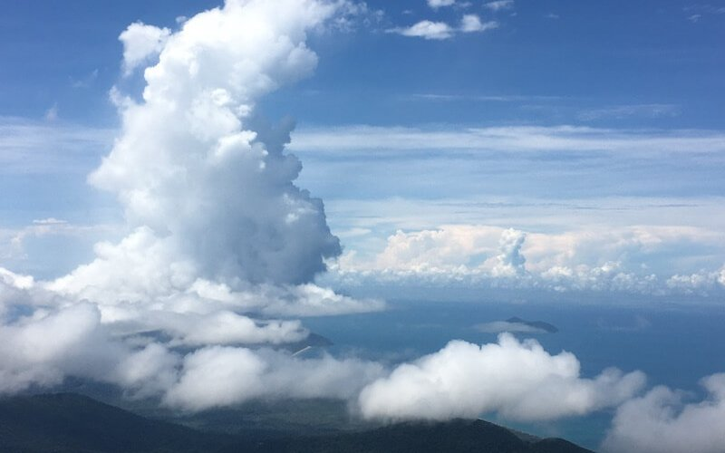 Cloud formations over Cairns