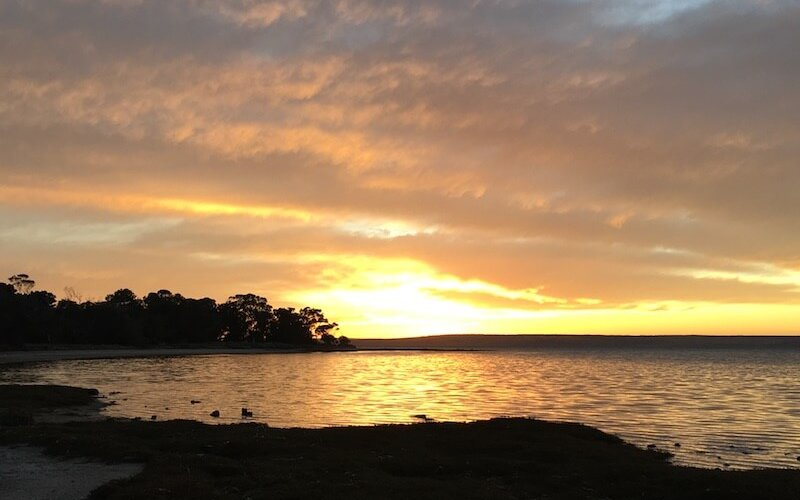 American River on Kangaroo Island at sunrise