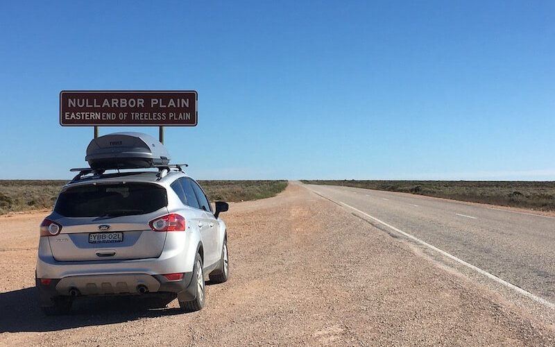 The Eyre Highway, crossing the Nullarbor Plain