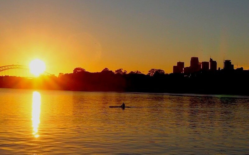 Sunrise from Cockatoo Island