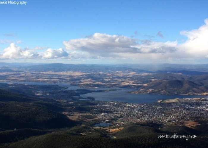 The views from Mount Wellington
