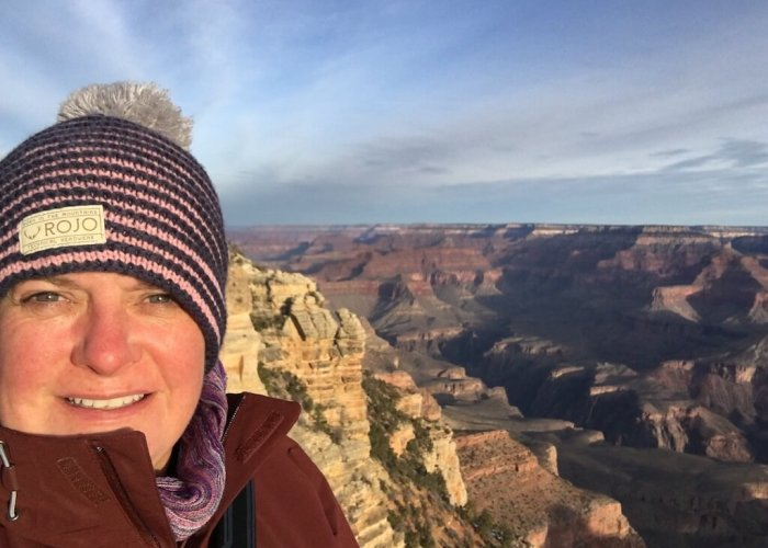 Me, in my new North Face Jacket, just in time to photograph the sunshine at the Grand Canyon. (It was -7 C / 19 F).