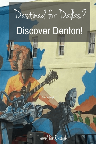 Destined For Dallas? Discover Denton | Travel Far Enough | When staying in the Dallas/Fort Worth area, you need a great place to base yourself.  A place that's not crazy-busy. A place that's simple to get in and out of. And a place that exudes Texas charm. Denton, Texas is all those things. Here's why you need to base yourself in this charming Texas city.