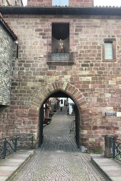 The gate to the Camino
