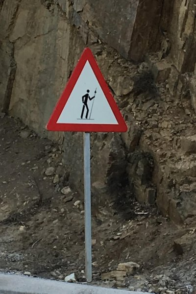 Road sign to watch for Pilgrims!