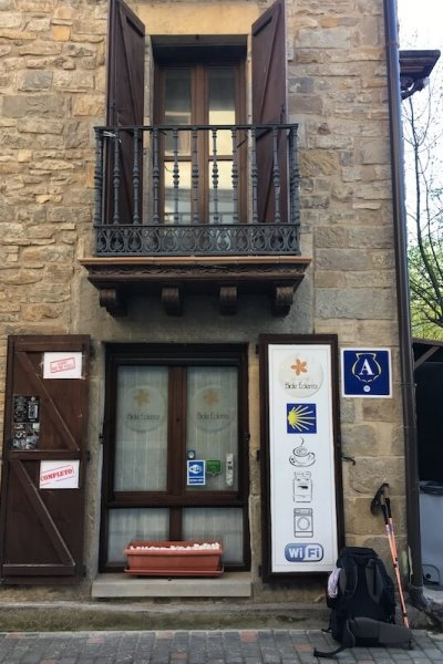 Larrasoaña Albergue - one of my favourites on the Camino