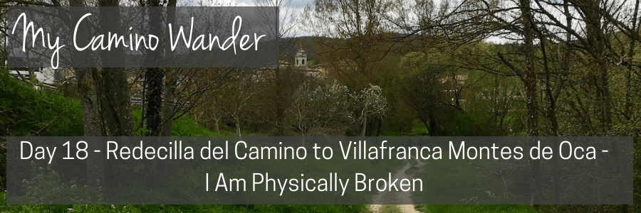 day 18 of the camino wander.POST