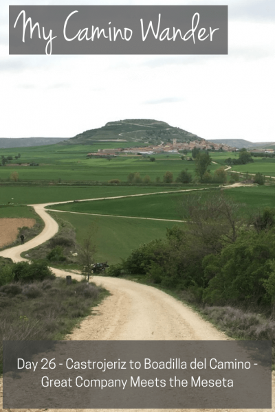 Day 26 of the Camino Wander | Travel Far Enough | A day of good conversations that made the 21km go faster. The vastness of the Meseta came into full view today as we descended after Castrojeriz.