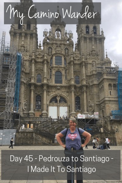 Day 45 of the Camino Wander | Travel Far Enough | I made it. I made it to Santiago de Compostela. It's been 45 days to walk 740km and 1,318,191 steps ❣️