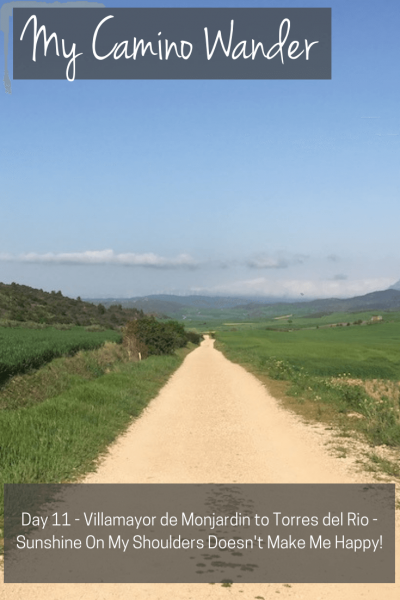 Day 11 of the Camino Wander | Travel Far Enough | Sun on the Camino is a different beast. Although not 'hot', it was 21km of beating-down sunshine, an endless dirt track, and no shade to speak of.