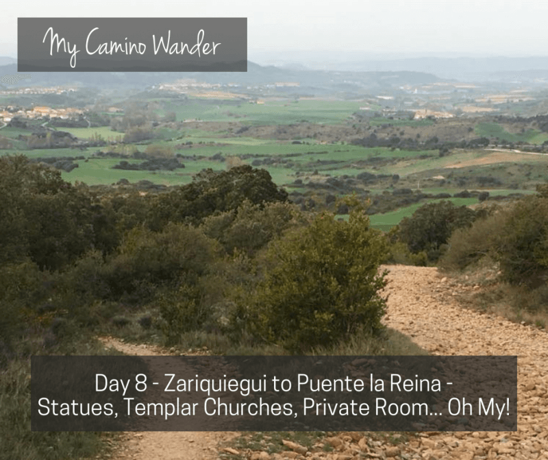 Day 8 of the Camino Wander – Statues, Templar Churches, Private Room…Oh My!