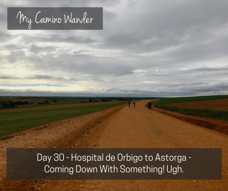 Day 30 of the Camino Wander – Coming Down With Something! Ugh.