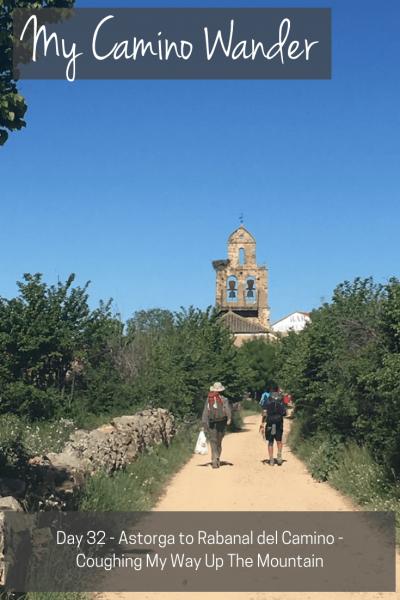 Day 32 of the Camino Wander   Travel Far Enough   I started the elevation to Cruz de Ferro / Alto de Cerezales. I'm currently at about 1150m, the mountain at 1400 m. It is the highest point on the Camino.