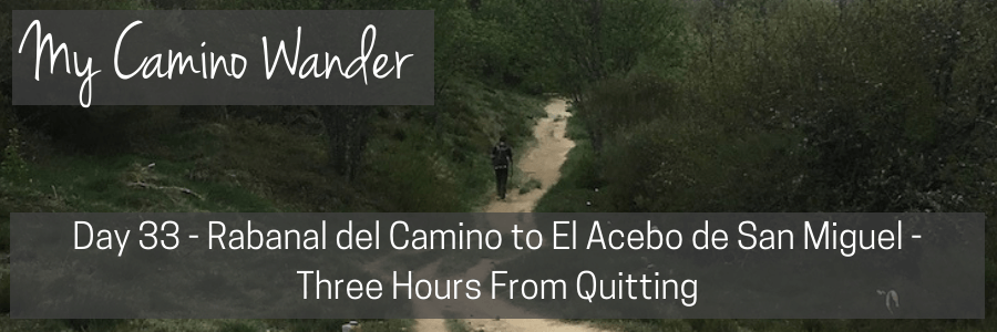 day 33 of the camino wander.POST