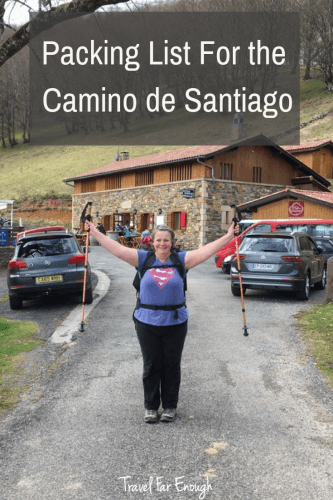Packing List For the Camino de Santiago | After one walk, and planning for another, here's a full list of what pack, where to find the items and what to pack it in. | Travel Far Enough
