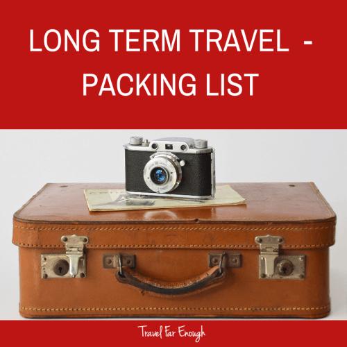 Long Term Travel Packing List