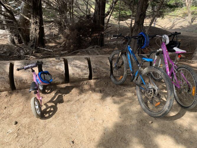 Bike hire is available on Maria Island