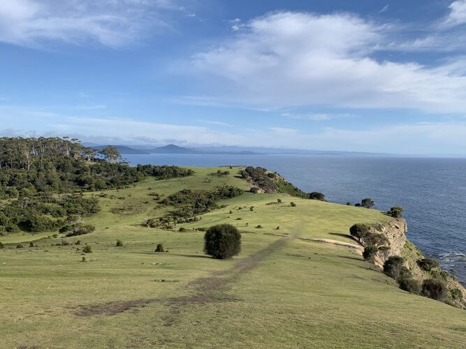 Views of Fossil Cliff Circuit on Maria Island